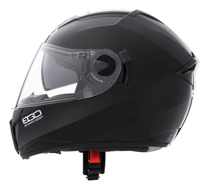 CABERG EGO ADULT MOTORCYCLE MOTORBIKE ON ROAD SAFETY FULL FACE HELMET BLACK PAINTED