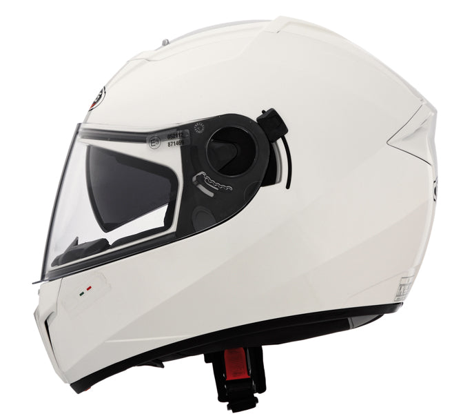 CABERG EGO ADULT MOTORCYCLE MOTORBIKE ON ROAD SAFETY FULL FACE HELMET METAL WHITE