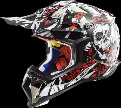 LS2 MX470 SUBVERTER VOODOO ADULT MOTOCROSS OFF ROAD RACING HELMET