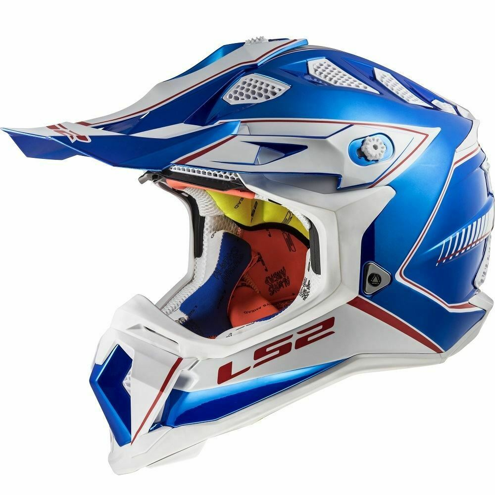LS2 MX470 Subverter Power Motocross Enduro Off Road Helmet Chrome Blue