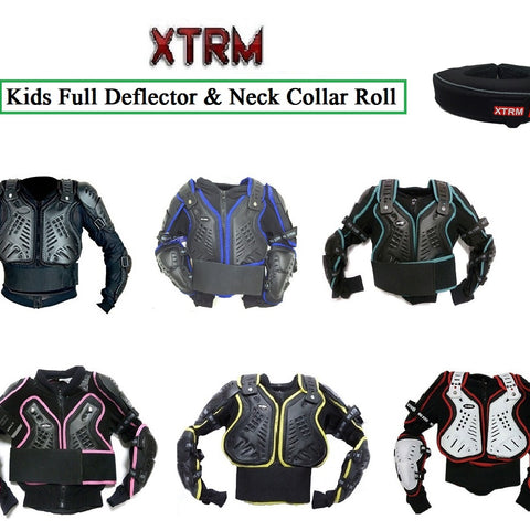 XTRM EDGE MX MOTORBIKE KIDS BODY ARMOUR Motorcycle Junior Child Quad Off Road Protective Gear Sports CE Approve Full Body Deflector WHITE RED