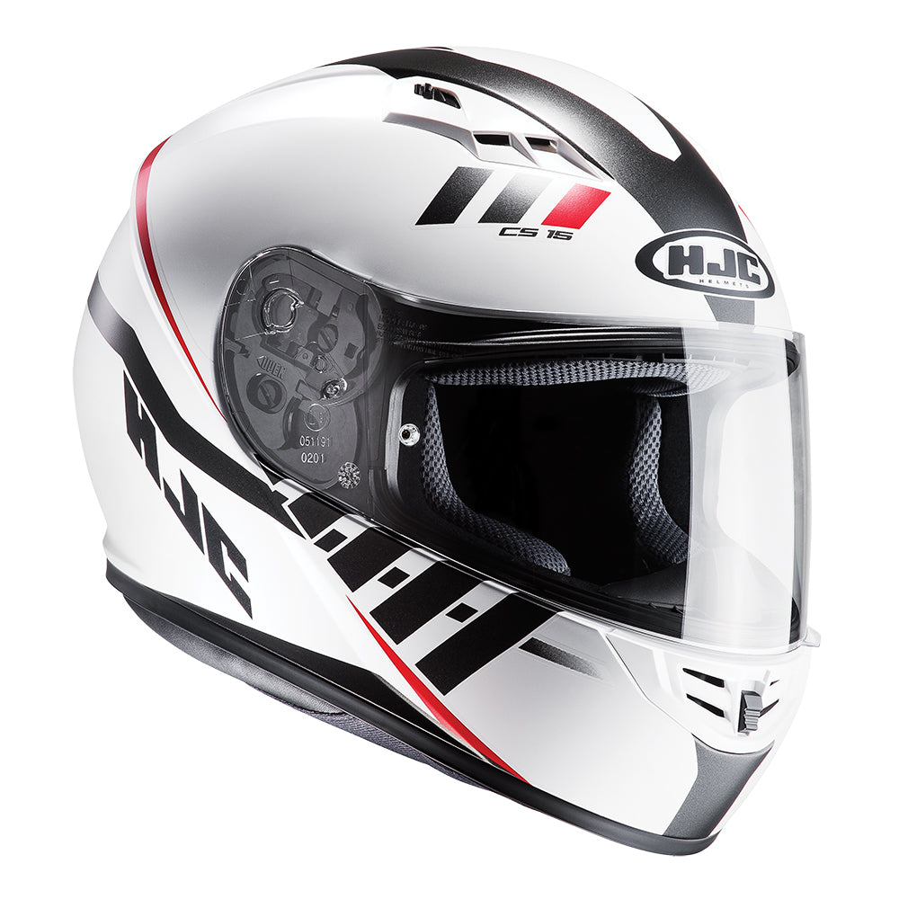 Motorcycle Helmet HJC CS-15 Space Full Face Safety Quick Release Lightweight Helmet White