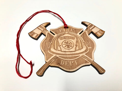 Wounded Warriors Canada Fire Fighters Christmas Ornament with FREE SHIPPING!