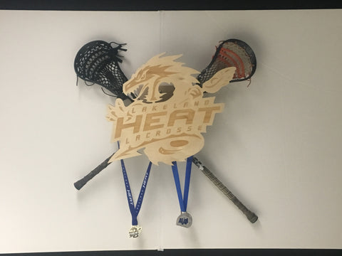 Lakeland Heat Lacrosse Medal and Stick Holder