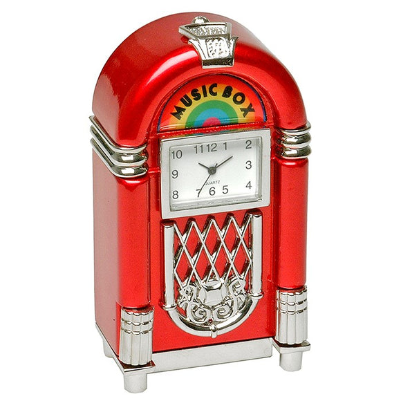 1950's Red Juke Box Clock 0414