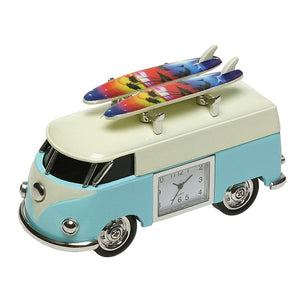 Blue & Cream Surf VW Camper Clock