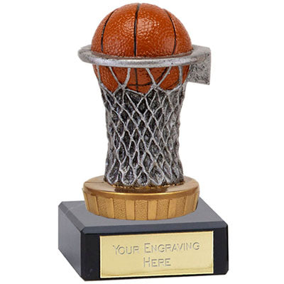 Resin Basketball Award On A Marble Base 10cm (3 7/8