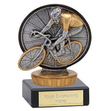 Resin Cycling Award On A Marble Base