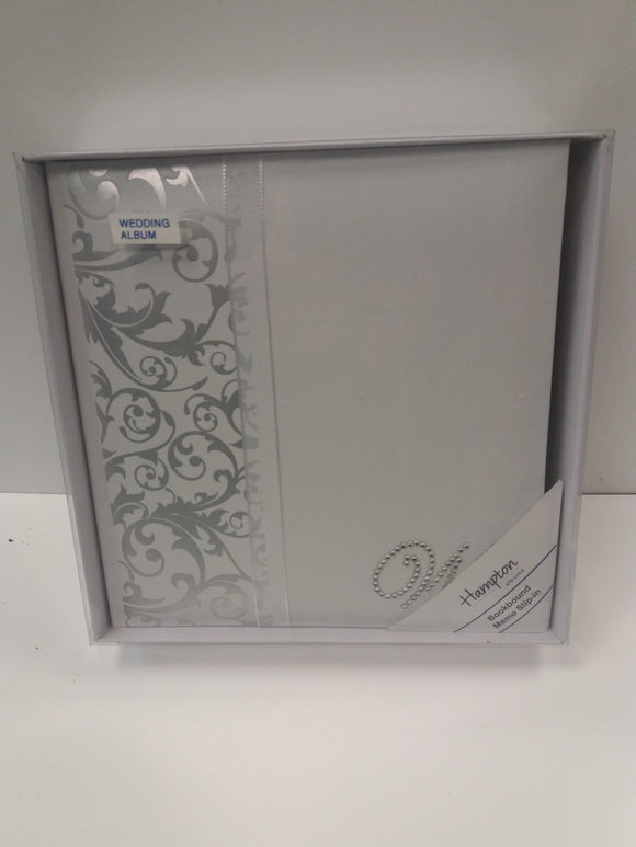 Joanna Memo slip White/Silver Wedding Photo Album for 100 4 x 6 photos