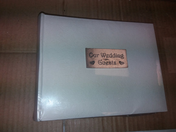 NB01 White/Silver Our Wedding Guests Wedding Photo Album for 30 7 x 5 photos