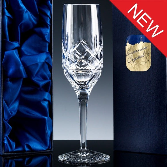 2733.51S: Inverness Crystal - Premier - Fully Cut - 24% Lead Crystal - 6oz Champagne Flute, Satin Box