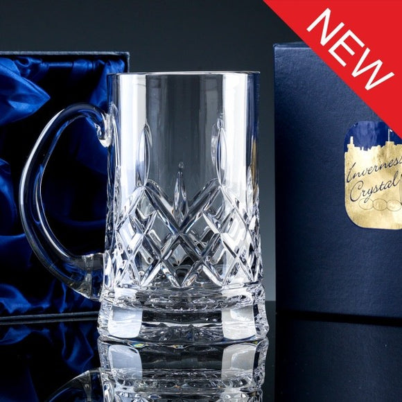 2736.56S Inverness Crystal - Premier - Fully Cut - 24% Lead Crystal - 1pt Tankard, Satin Box
