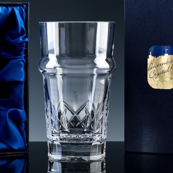 835.52S: Inverness Crystal - Premier - Panelled - 24% Lead Crystal - 1pt Beer Glass, Satin Box