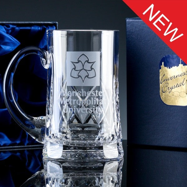 2836.56S: Inverness Crystal - Premier - Panelled - 24% Lead Crystal - 1pt Tankard, Satin Box