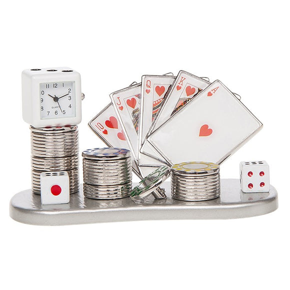 Techno Card Scene Heart Poker Clock 285144