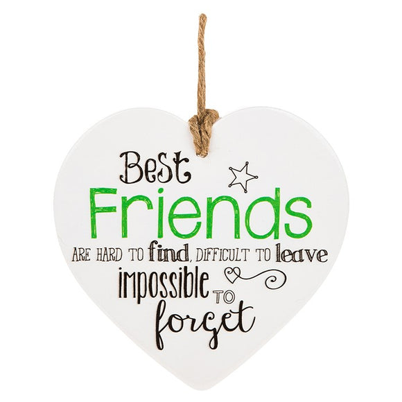 From The Heart Plaque Best Friends 288103  rjsmith-son.co.uk