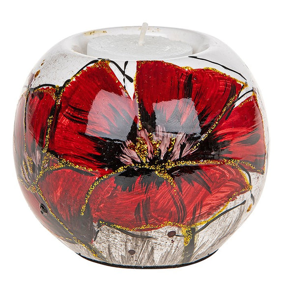 Red Bright Blooms Tealight Holder 295230