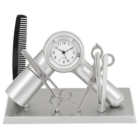 Techno Hairdresser mantle table Clock 296324