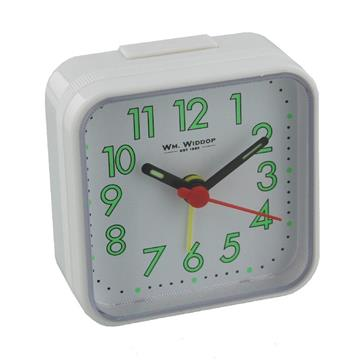 WILLIAM WIDDOP SQUARE ALARM CLOCK - WHITE