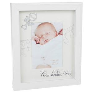 Gloss White 4x6 Christening Frame 53945