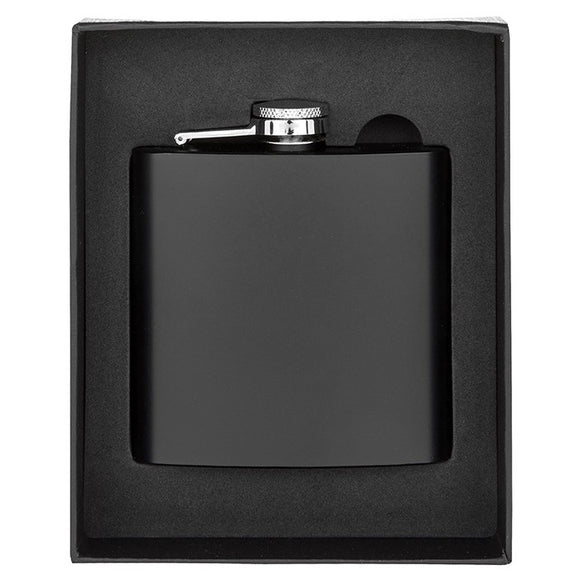 Hip Flask Matt Black 6oz 57222