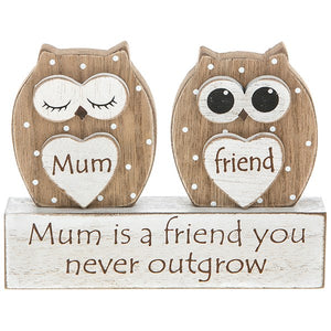 Dreamy Owl Table Plaque Mum