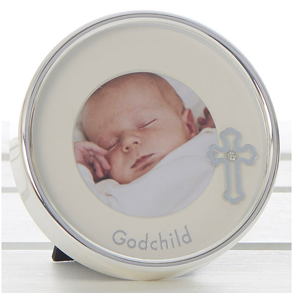 Godchild Mini Circle Picture Frame 65827  rjsmith-son.co.uk