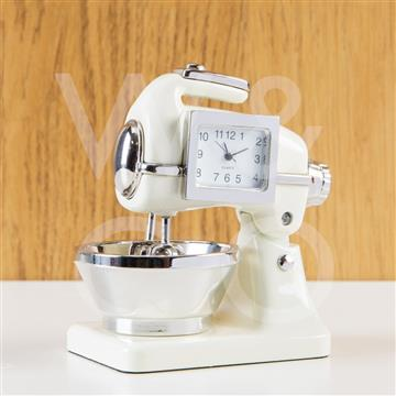 WM. WIDDOP MINIATURE CLOCK - CREAM FOOD MIXER