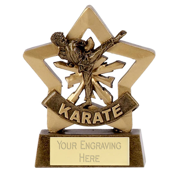 Mini Stars Karate Male Award 8cm (3 1/4