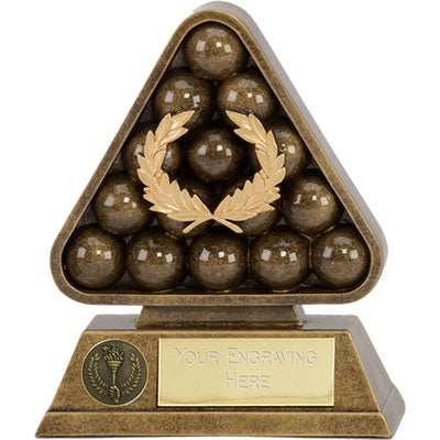 Gold Triangle Paragon Pool Snooker Trophy