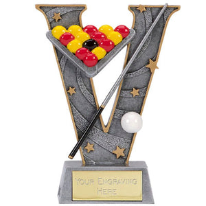 V Series Silver Resin Pool Trophy