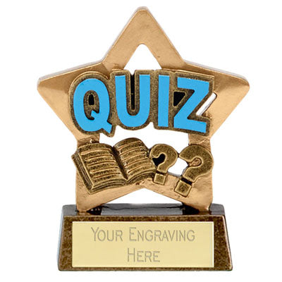 Mini Stars Quiz Trophy Award 8cm (3 1/4