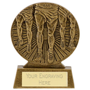 "Gold/Silver/Bronze Resin Running Trophy 8cm (3 1/4"")  rjsmith-son.co.uk"
