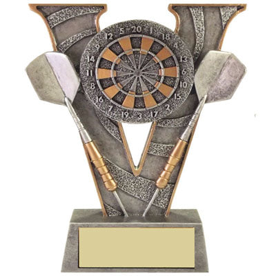 V Series Silver & Gold Darts Trophy