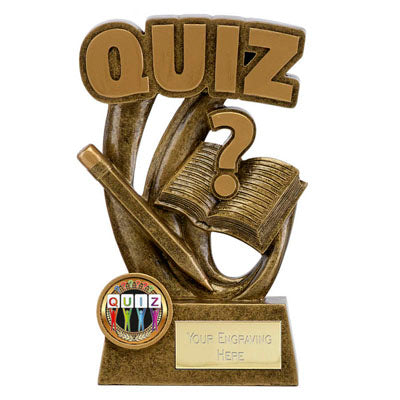 Gold Resin Epic Quiz Trophy 14cm (5 1/2