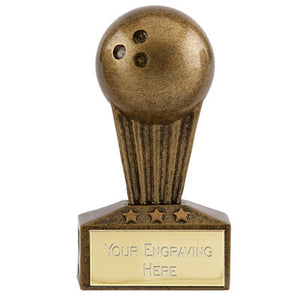 "Gold Micro Bowling Trophy 7.5cm (3"")  rjsmith-son.co.uk"