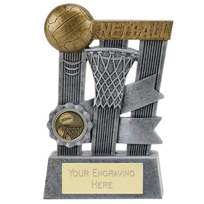 Ribbon Resin Netball Trophy