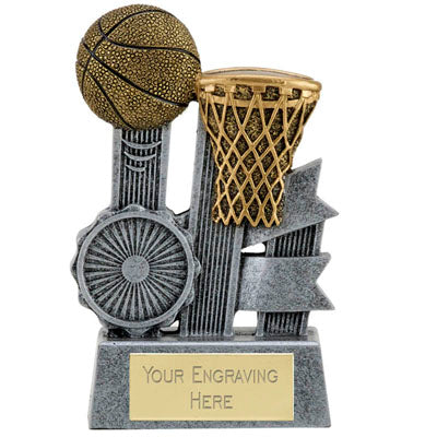 Ribbon Resin Basketball Trophy 10cm (3 7/8