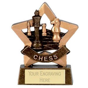 "Mini Stars Chess Trophy Award 8cm (3 1/4"")"