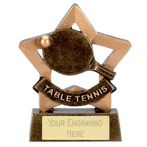 "Mini Stars Table Tennis Award 8cm (3 1/4"")"