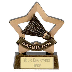 "Mini Stars Badminton Award 8cm (3 1/4"")"