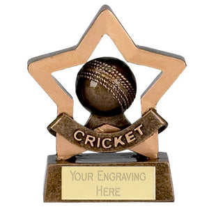 "Mini Stars Cricket Trophy Award 8cm (3 1/4"")"