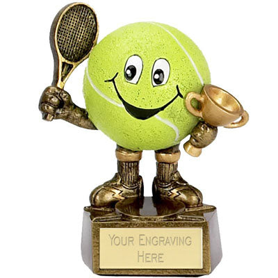 Resin 3D Smiley Tennis Man Award 10cm (4