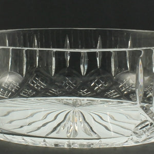 CRY200020 20CM BOWL WITH ENGRAVING PANEL HAND CUT CRYSTAL