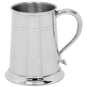 1 Pint Pewter Tankard swan neck handle EP004