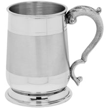 1 Pint Cavalier Satin Band Pewter Tankard EP061