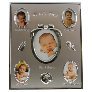 HBA30 MY FIRST YEAR BABY PICTURE FRAME OVERALL SIZE 9.5X11.5