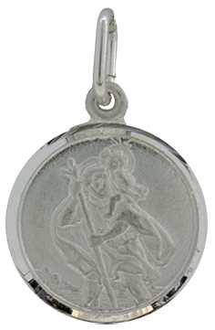 Silver (12mm) St.Christopher, 1.3g J31348