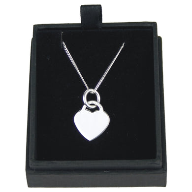 JW011 925 SILVER HEART PENDANT ON 18 INCH CHAIN