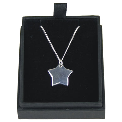JW012 925 SILVER STAR PENDANT ON 18 INCH CHAIN